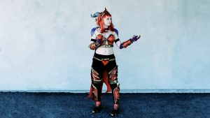 Louise Andersen (Louisetiger) som Alexstrazsa fra World of Warcraft